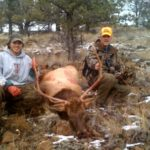 Dave Grill and son hunting after catching elk